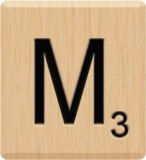 (10) BEAUTIFUL Scrabble Letter M Tiles, Scrabble for Crafts, Scrabble Tile Game Piece M, 10 Letter M, Hardwood, Individual Scrabble Tiles, A to Z In Stock