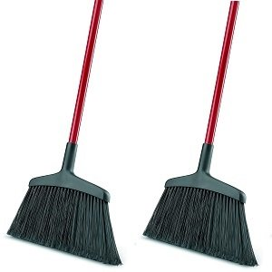 Libman Commercial 997 Wide Commercial Angle Broom, 55'' Length, 15'' Width, Black/Red (Pack of 6) (2-(Pack of 6))