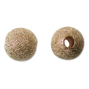 10mm Gold Plated Stardust Sparkle Round Beads (10 Mm Stardust Beads)