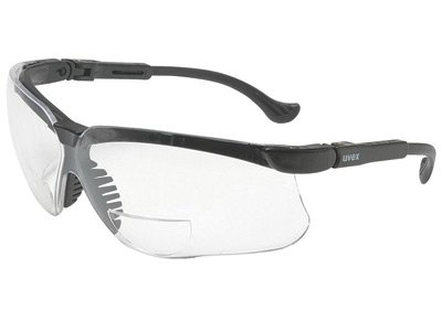 Uvex By Honeywell Genesis® Reading Magnifiers 2.0 Diopter Safety Glasses With Black Polycarbonate Frame And Clear Polycarbonate Ultra-dura® Anti-Scratch Hard Coat Lens (Clear Polycarbonate Frame)