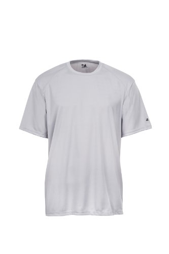 Badger Sportswear Men's B-Dry Tee, Silver, X-Large ()