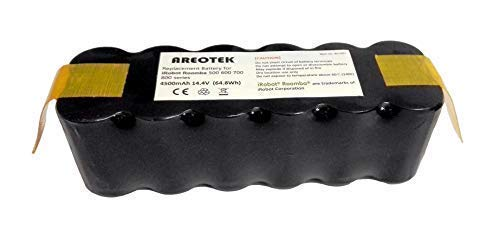 (Areotek 4.5Ah 14.4V Runtime 3.5 Hours Replacement Battery for iRobot Roomba R3 500 600 700 800 Series Vacuum Cleaner)