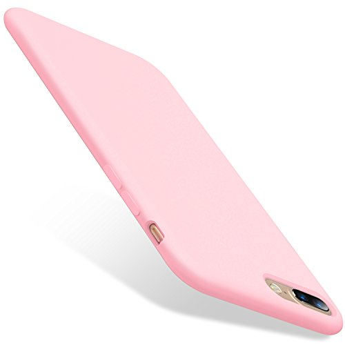 TORRAS Love Series iPhone 8 Plus Case/iPhone 7 Plus Case, Liquid Silicone Gel Rubber Case with Soft Microfiber Cloth Lining Cushion Compatible with iPhone 8 Plus/iPhone 7 Plus, Pink