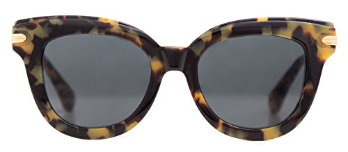 Sonix Women's Eliot Sunglasses, Caramel Tort/Amber Mirror, One - Sunglasses Sonix