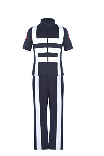ROLECOS My Hero Academia Cosplay Anime Costume Katsuki Bakugo Gym Uniform Outfit M Navy -