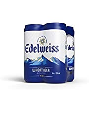 Edelweiss Weissbier Wheat Beer Can 330ml (Pack of 4)