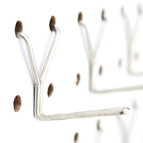 """Pegboard Hooks 100-Pack 1"""" L-Hook - Will Not Fall Out - Fits Any Peg Board - Stainless Steel - Organize Tools, Accessories, Workbench, Garage Storage, Kitchen, Craft or Hobby Supplies, Jewelry, Retail"""