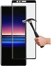 Lapinette Full Tempered Glass Compatibel met Sony Xperia 1 - Screenprotector van Gehard Glas Xperia 1 Full - 9H Force Glass - Volledige Dekking Bescherming Gehard Glas