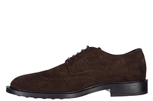 Tods chaussures à lacets classiques homme en daim derby marrone