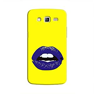 Cover it up Purple Lips Samsung Galaxy J7 Hard Case - Yellow