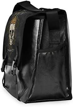メッセンジャーバッグ メンズ 髑髏 ブラック かっこいい 斜めがけ 肩掛け カバン 大きめ キャンバス アウトドア 大容量 軽い おしゃれ
