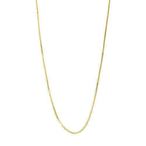 10k Yellow Gold Italian 0.50mm Box Chain Necklace, 14