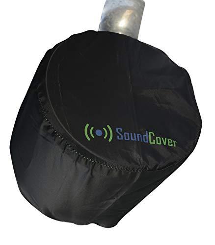 Two Sun Sand & Water Resistant Marine Boat Speaker Covers for 8 Inch Round Marine Power Boat ATV Wakeboard Tower Speakers - Bags fit Boss Audio, MCM Custom Audio, Rockville Marine Speakers