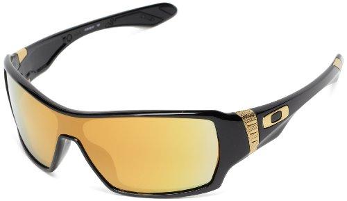 Oakley Offshoot OO9190-07 Iridium Sport Sunglasses,Polished Black,55 - And Sunglasses Black White Oakley