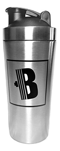 Shaker Bottle - Double Walled Stainless Steel & Vacuum Insulated - 24oz - Keep Drinks Hot or Cold For Hours - Odor Resistant, Anti-Bacterial, & Sweat Proof - Eco-Friendly & - Steel Plastic Shaker