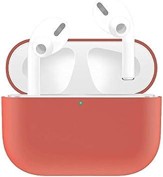 Cubierta de la Caja para Protecitive AirPod para AirPods Pro Estuche Protector de Silicona para Auriculares de Color sólido Caso de la Cubierta Pieles (Color : Watermelon Red): Amazon.es: Electrónica