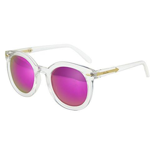 Liansan Fashion Circle Sunglasses Vintage Round Glasses For Men Women L501(Transparent - Ran Ban