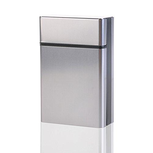 Pixnor Reisen Sie Aluminium Zigaretten Tabak Fall Lagerung Halter Tasche Box grau wXgL0p