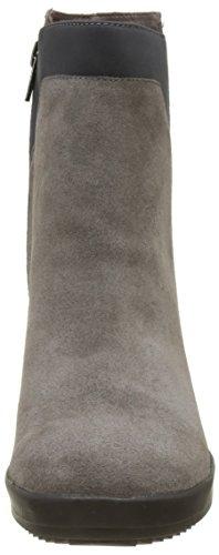 Stonefly Damen Oprah 2 Velour Chelsea Boots Schwarz (Lithium)