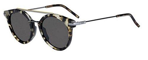 New Fendi URBAN FF 0225/S 3MA/IR Havana Ruthenium/Grey Blue Sunglasses