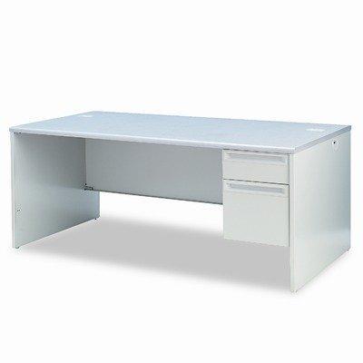 38000 Series Right Pedestal Desk, 3/4 Pedestal, Gray, 72 x 36 (HON38293RG2Q) Category: Metal