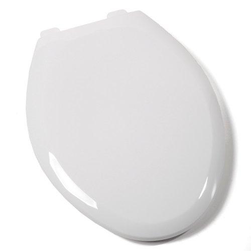 - Comfort Seats C1B3E4-00 Premium Plastic Toilet Seat, Elongated, White