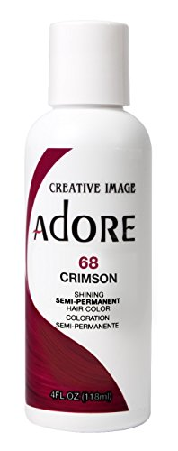 (Adore Semi-Permanent Haircolor #068 Crimson 4 Ounce (118ml) (6)