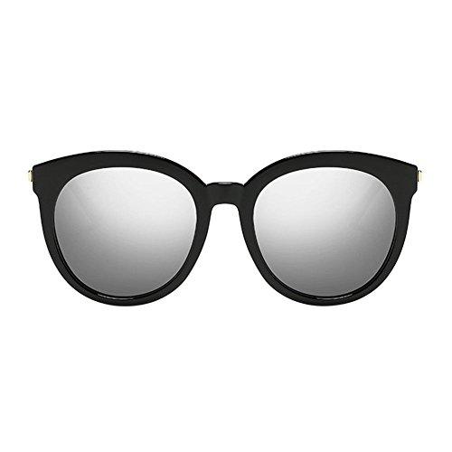 Metal Negro Gafas Xinvision Miopía w Frame Miope de Polarizado Marco redondo Mirrored Plateado sol 1xwPqZE