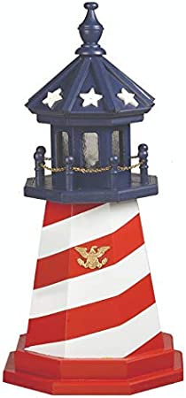 Beaver Dam Woodworks 4 Foot Amish Made Cape Hatteras Wooden Lighthouse