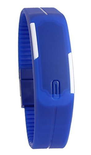 USPRO® Fashion LED Watch Novelty Sports Silicone Digital Bracelet Blue With Very Creative Plastic Band