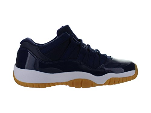 Jordan Nike Air 11 Retro Low Xi GS Midnight Navy Blue Gum Brown 528896 405