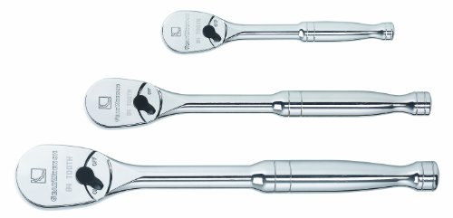 GearWrench 81206F 3-Piece Full Polish Ratchet Set