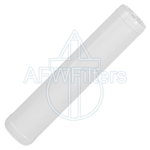 20 2 Stage Big Blue KDF-55 Whole House Complete Water Filter System with 4.5 diameter Sediment and GAC//KDF 55 Filters AFWFilters CF2-4520-55SD