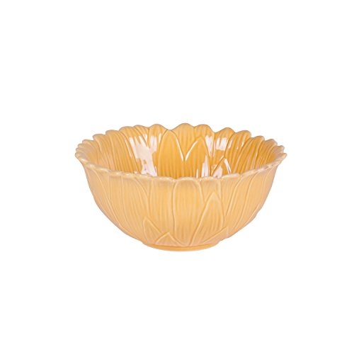 Savannah Collection, Flower Fruit Bowl - Yellow (Yellow Flower Bowl)