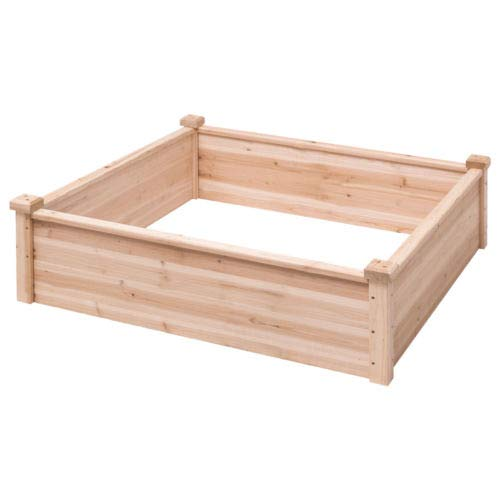 Kit Tile Tray (Wooden Garden Bed Vegetable Garden Flower Raised Square Planter Kit Outdoor)