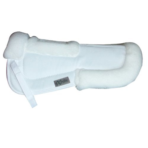 White 19-Inch White 19-Inch Exselle Half Pad with Wither Relief
