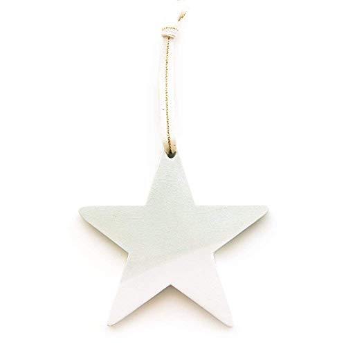 - Handmade Ceramic Star Ornament - Seafoam Green Crackle Hand-Dipped Glaze (Christmas/Holiday / Wall Decor/Modern)