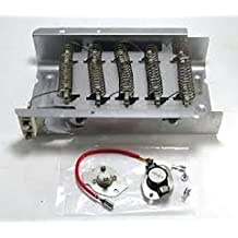 3398064 - Heavy Duty Clothes Dryer Replacement Heating Element for Whirlpool Kenmore Maytag Roper KitchenAid Estate Sears Magic Chef Amana Admiral Includes 279816 Thermostat kit