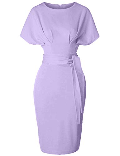 GownTown Women's 50s 60s Vintage Sexy Fitted Office Pencil Dress Light - Popular Dress Cotton