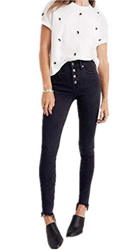 - GALMINT Women's Juniors High Waisted Butt-Lifting Slim Stretch Jegging Denim Skinny Jeans Black