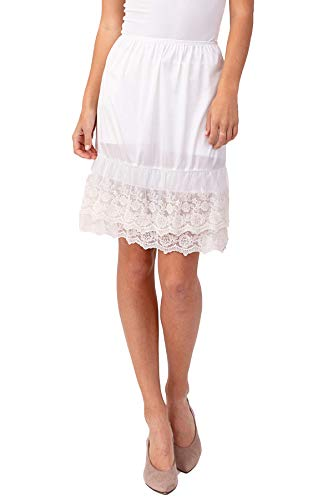 Lace Washable - Double Lace Half Slip Satin Skirt Extender 21