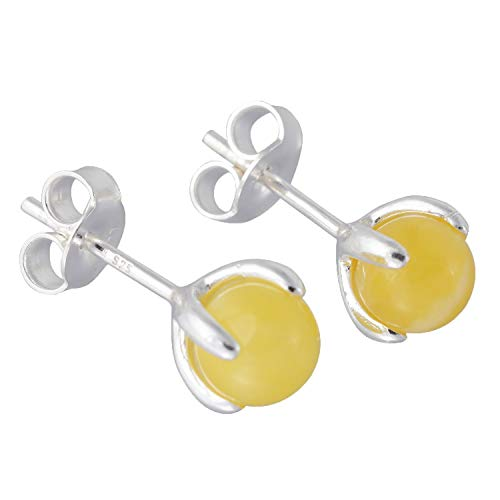 Sterling Silver and Baltic Butterscotch Amber Earrings