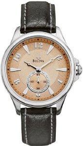 Bulova Adventurer Copper Dial Black Leather Ladies Watch (Bulova Ladies Black Dial Watch)