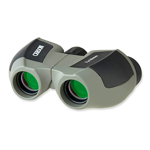 Carson MiniScout 7x18mm Ultra Compact and Lightweight Binoculars for Sight Seeing, Bird Watching, Concerts, Sporting Events, Safari, Hunting, Surveillance and Outdoor Activities (JD-718) (Best Binoculars For Surveillance)