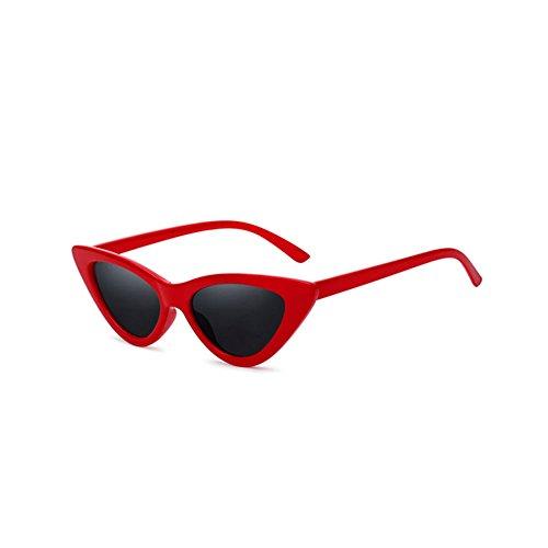 4 3 con Estilo UV Protección Color Harajuku de Sol Gafas Retro Sol Gafas Triangulares de Lady DT HF4fZ4
