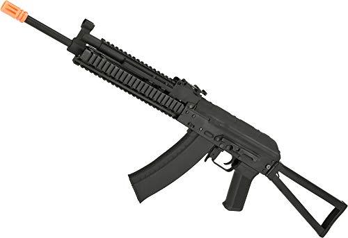 Evike CYMA Stamped Metal AK74 KTR RIS w/Folding Stock Airsoft AEG Rifle - (Package: Add 7.4v LiPo Battery + - Ris Muzzle