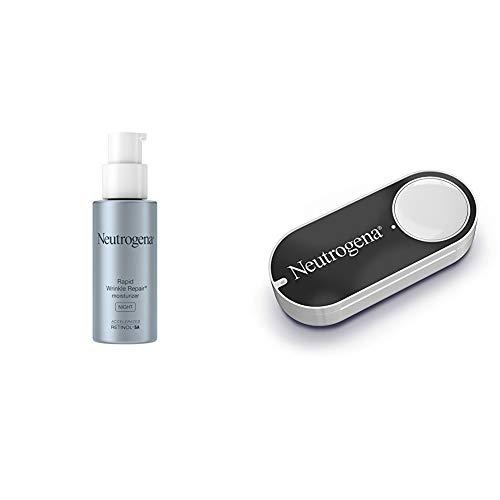 Neutrogena Rapid Wrinkle Repair Anti-Wrinkle Night Accelerated Retinol SA Facial Moisturizer, 1 fl. Oz + Neutrogena Dash Button