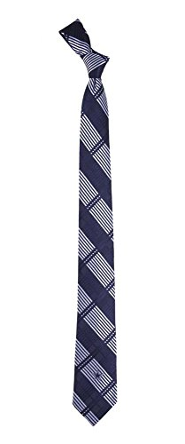 NFL Dallas Cowboys Men's Woven Polyester Skinny Plaid Tie, One Size, Multicolor