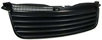 Parrilla de calandra delantera deportiva lisa sin logotipo negra (ver modelos de vehículos compatibles en la descripción) Rejilla frontal sport sin ...