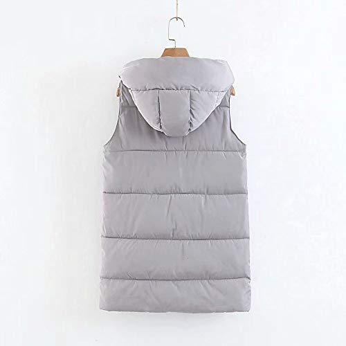 Da Grigio Womens Alla Outdoor Moda Coat Pocket Vest Donna Hooded fashion Down Jacket Giacca 1HqdOx1